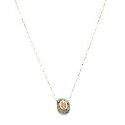 Collier chaine minéral