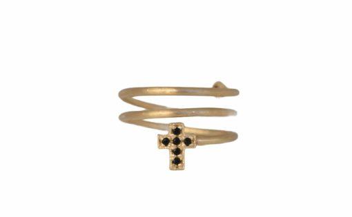 Bague spirale croix taliss