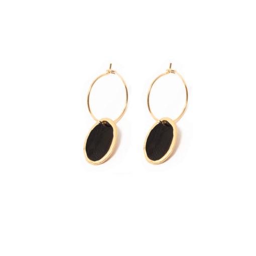Boucles d'oreilles Lumy noires