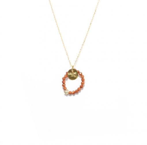 Necklace cercle sand stone