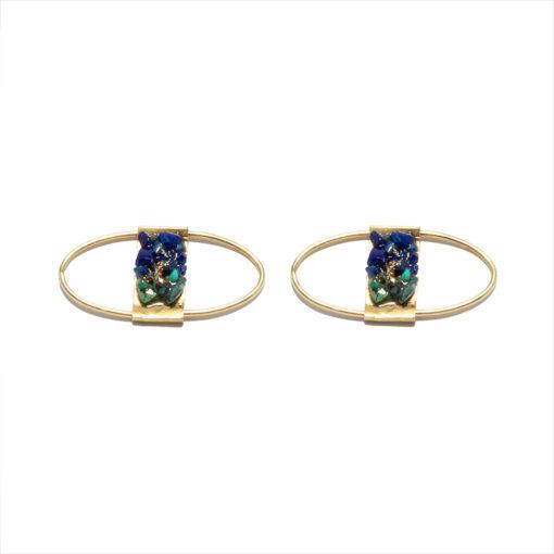 Earrings open circle