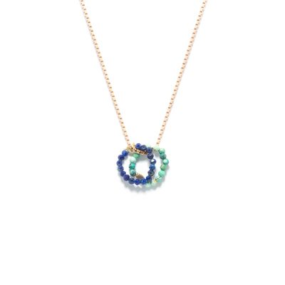 Necklace mini cercle duo