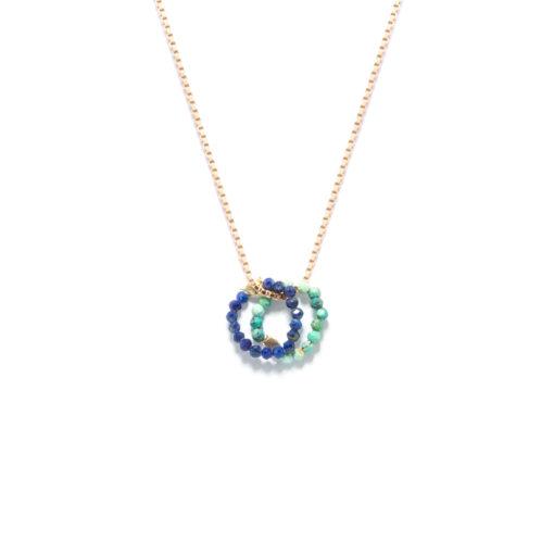 Necklace mini cercle duo
