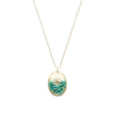 Collier big medal turquoise