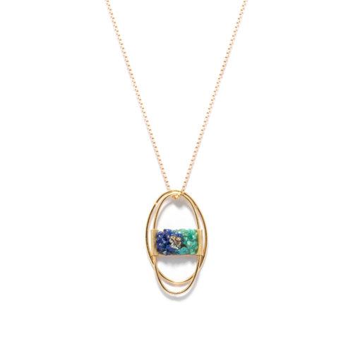 Long necklace open circle