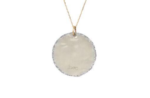 Collier médaille fil d'or