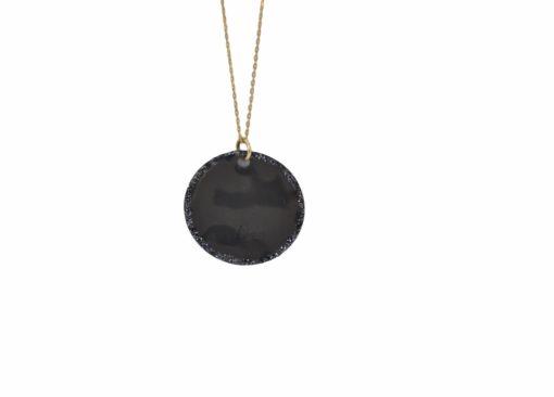 Collier médaille fil d'or black