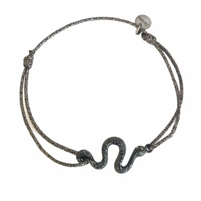 Bracelet snake black