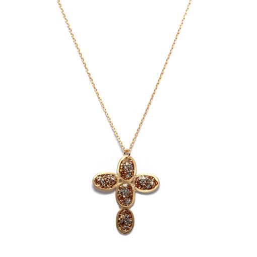 Collier Croix Éclat