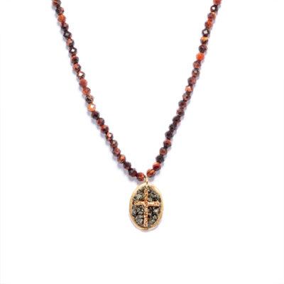 collier croix lakstone