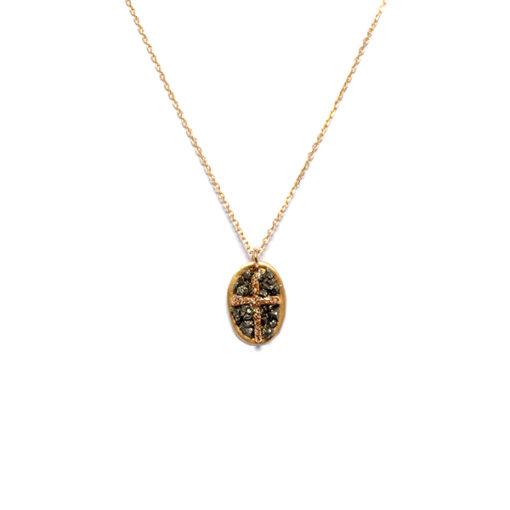 Collier chaine croix lakstone