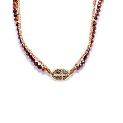 collier double lakstone croix